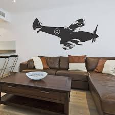 spitfire side vinyl wall sticker by oakdene designs