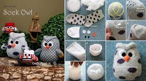 Diy Sock Snowman Diy Adorable Sock Owl Tutorial Beesdiy Com