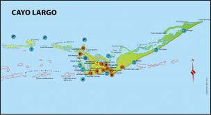 Map Cuba Cayo Largo Del Sur Cuba