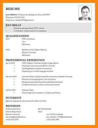 Example College Application Resume by Example Resume For Job Application Resume For College Application