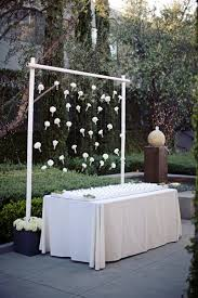 wedding backdrop using pvc pipe diy version with pvc piping galvanized buckets with lemons and