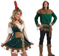 Robin Halloween Costume Men Couples Adults Mens Ladies Robin Hood Maid Marion Tv Film