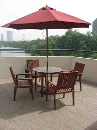 Wooden Patio Furniture Patio Surprising Patio Table With Umbrella Black Rectangle