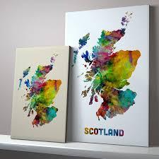 Map Scotland Scotland Map Watercolour Print By Artpause Notonthehighstreet Com