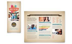 adobe indesign tri fold brochure template tri fold tutoring services brochure template design brochure