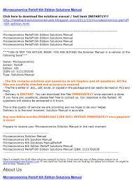 microeconomics perloff 6th edition solutions manual by smtb smtb
