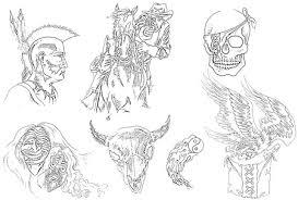 native american tattoo designs drawings on dark art cowboy