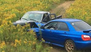 subaru wrx offroad off road crash sends 9 to local hospital 13 year old is airlifted