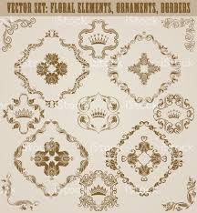 set of vector damask ornaments stock vector 543051440 istock