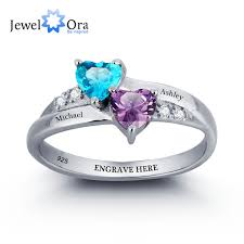 ring with birthstones aliexpress buy 925 sterling silver engagement rings