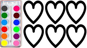 super hearts coloring pages how to draw heart learn colors for