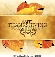 happy thanksgiving background templates orange leaves on vector