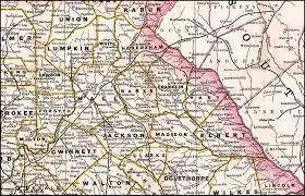 Map Of Atlanta Richmond U0026 Danville Railroad 1883 Map Of Georgia Lines
