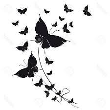 top butterflies design stock vector butterfly silhouette black photos
