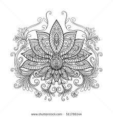 vector ornamental lotus flower ethnic stock vector 511786144