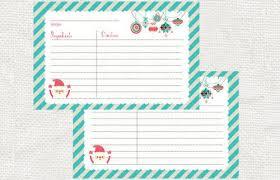 free printable christmas recipe card blank printable recipe