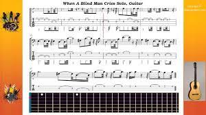 Blind Chords When A Blind Man Cries Solo Deep Purple Guitar Youtube