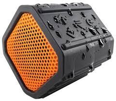 Ecoxgear Rugged And Waterproof Stereo Boombox Ecoxgear Ecopebble Bluetooth Waterproof Speaker Orange Gdi Egpb100