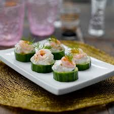 prawn and cucumber canapés healthy recipe weight watchers uk