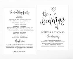 black and white wedding programs calligraphy heart black wedding program template