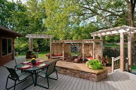 backyard decks with pergolas home u0026 gardens geek
