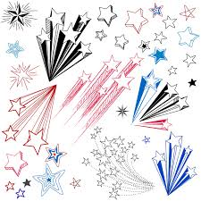 hand drawn star shape design elements free vector 4vector