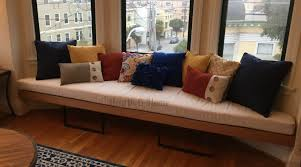 bench seat cushions for bench window seat sewing a bay window