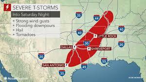 Illinois Weather Map by Severe Thunderstorms To Flood Texas To Illinois Through Saturday Night