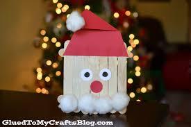 popsicle stick santa kid craft christmas ideas