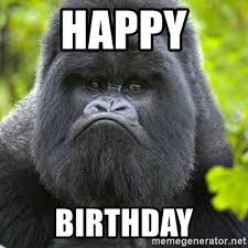 Gorilla Meme - gorilla birthday meme mne vse pohuj
