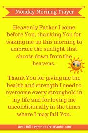 monday morning prayer and bible verses christianstt