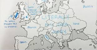 blank europe map with country names europe according to american students americans were asked to