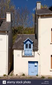 tiny cottage in french town stock photo royalty free