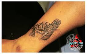 Tattoos In - sea turtle aatman tattoos in bangalore india