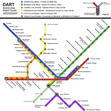 Dart Map Dallas by Detroit Metro Map Metro Detroit Map Michigan Usa