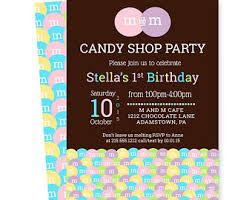 m and m birthday party invitations twins colorful kids