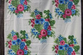 Russian Home Decor by Vintage Soviet Cotton Fabric Russian Curtain Fabric Tablecloth