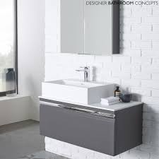 the pursuit designer charcoal elm 900mm bathroom vanity unit from