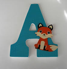 letter s wall decor fox custom decorated wooden letters nursery name décor