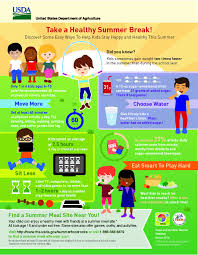 take a healthy summer break infographic from usda u0027s team nutrition