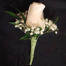 Rose Boutonniere Single Rose Boutonniere With Baby U0027s Breath Flowers U0026 Fancies