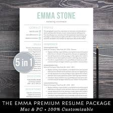 modern resume sles 2017 listing resume template professional creative resume instant download