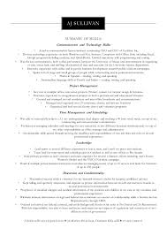 skill based resume examples example of skills summary for resume