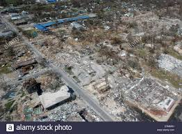 aerial view of destroyed homes in the aftermath of hurricane