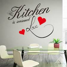 online get cheap kitchen quotes wall decals aliexpress com decoration this kitchen is seasoned love quote wall decal removable waterproofing vinyl wall stickers zy8243