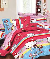 hello kitty cotton cartoon double bedsheet buy hello kitty
