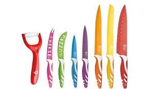 coloured kitchen knives seven coloured knife set groupon goods