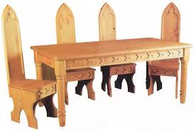 Gothic Dining Room Furniture Characteristics Of Gothic Furniture