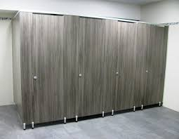 Solid Plastic Toilet Partitions Male Toilet Partitions With Special 100mm Leg In A Timber Grain