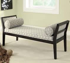 bench fabric bench off u shaped black wooden bench chairs fabric